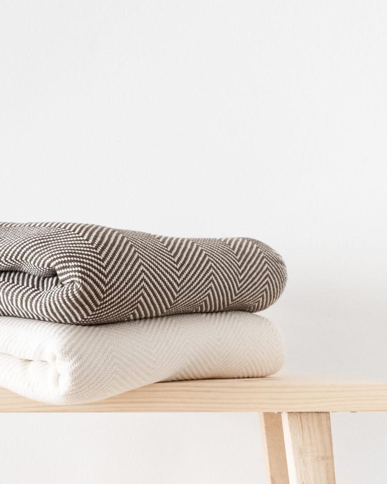 Nachhaltige Handtücher und Decken