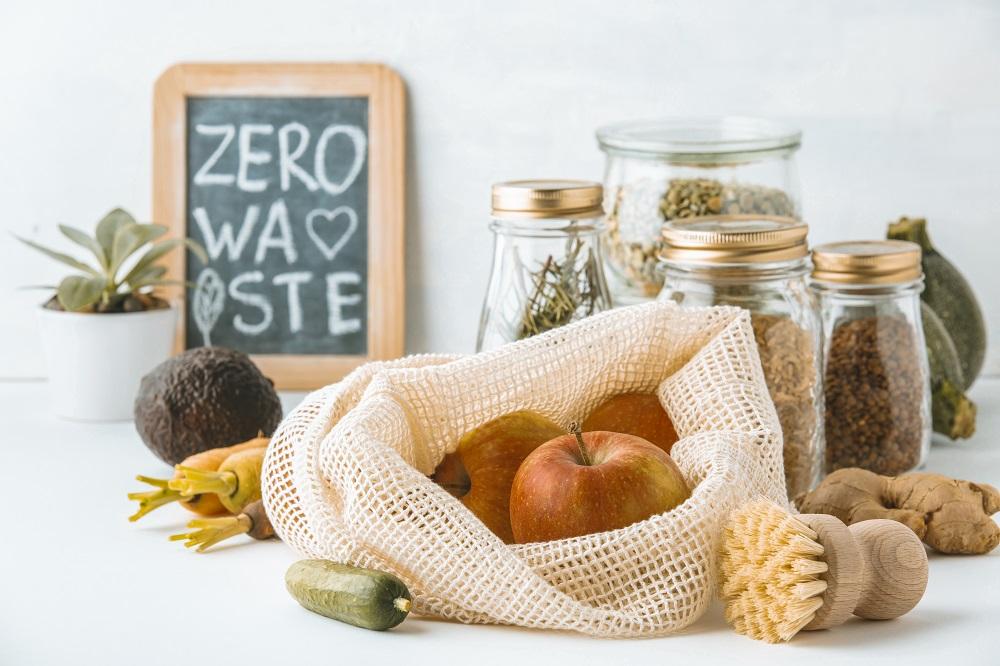 Nachhaltiger Einkauf im Gemüsenetz, Zero Waste Tafel, Ferienwohnung